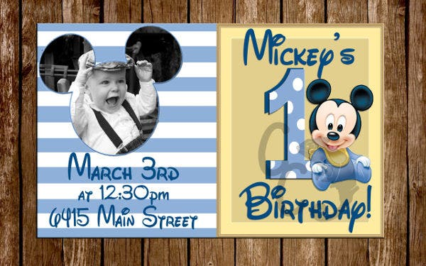 free sample 1st birthday invitation