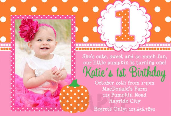 -Sample 1st Birthday Party Invitation