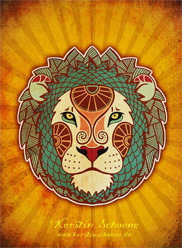 modern lion vector