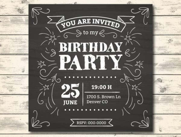 sample birthday party invitation1