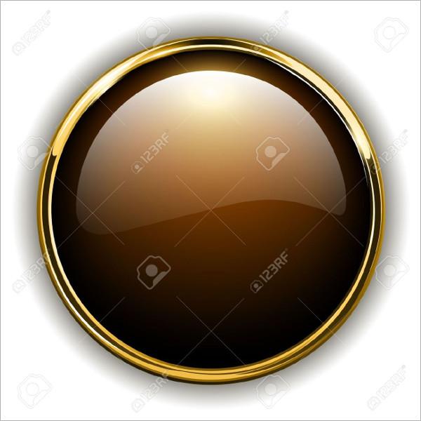 Gold Metallic Button