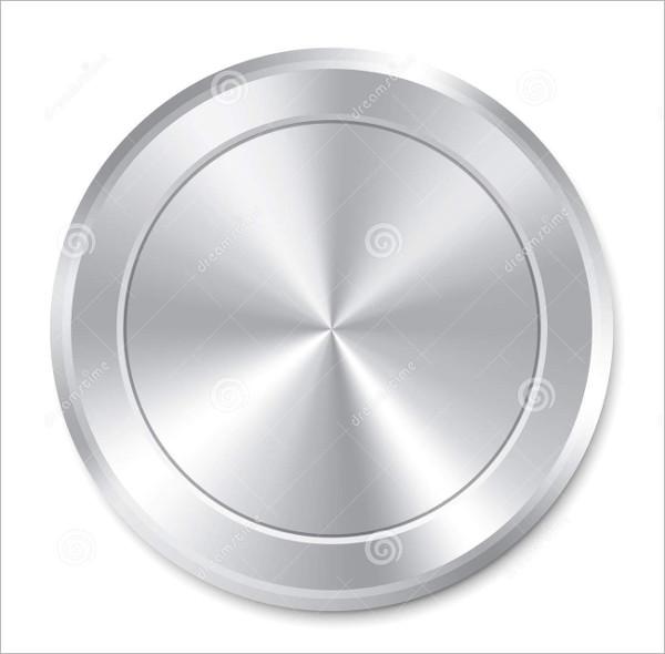 Round Metallic Button