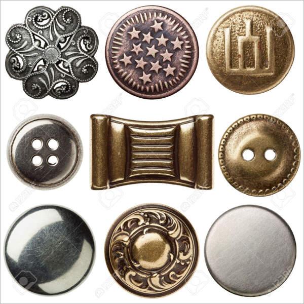 Vintage Metallic Sewing Button