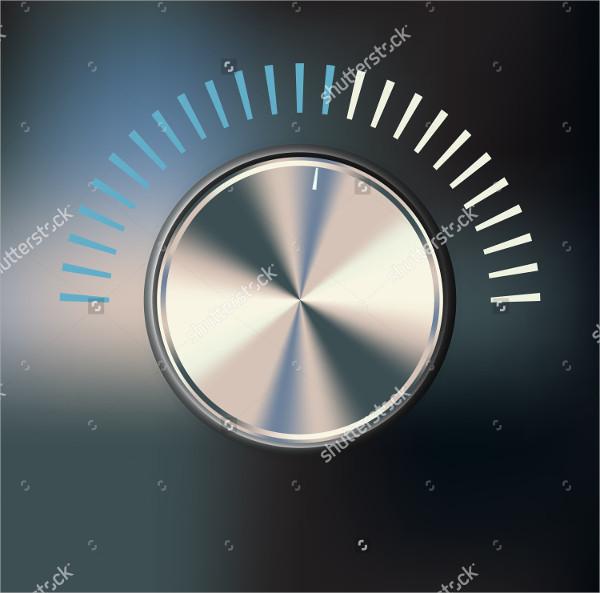 Metallic Volume Button