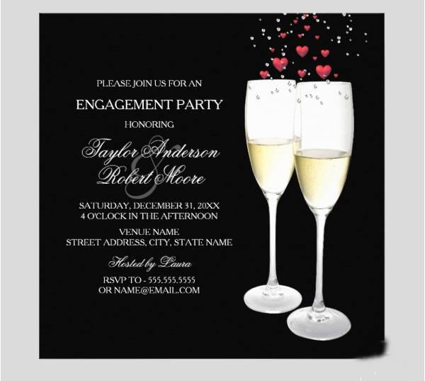 champagne party invitation