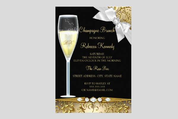 elegant champagne invitation