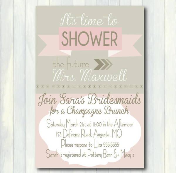 printable champagne invitation