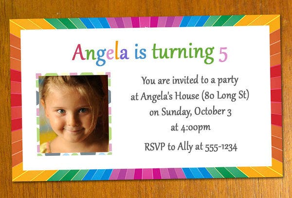 free printable sample birthday invitation