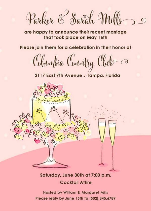 rehearsal wedding champagne invitation