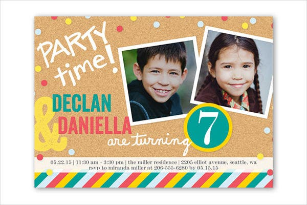 -Sample Printable 7th Birthday Invitation