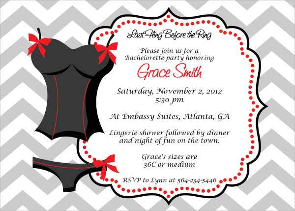 printable chevron invitation template
