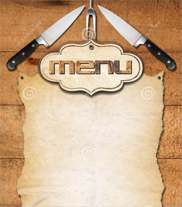 rustic main menu template