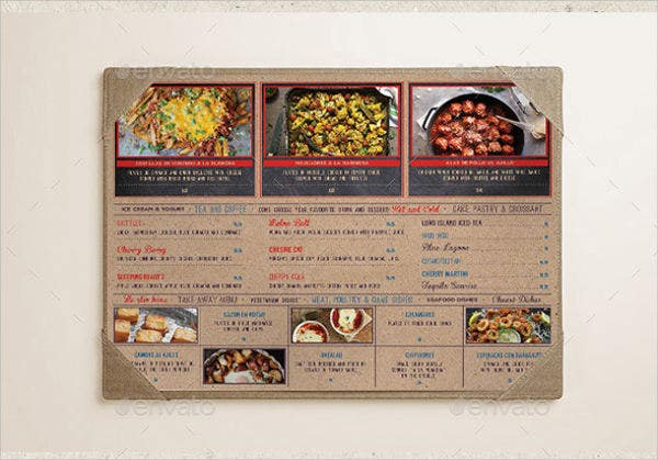 Rustic menu templates 6 11 free word pdf psd eps for Tapas menu template