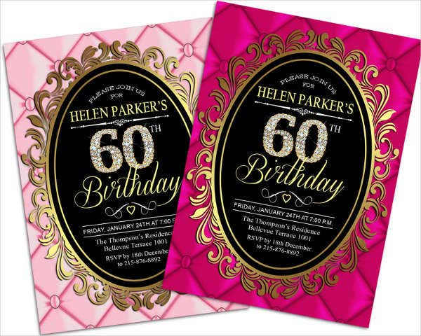 -Sample Surprise 60th Birthday Invitation