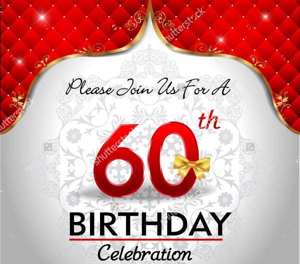 sample 60th birthday party invitation