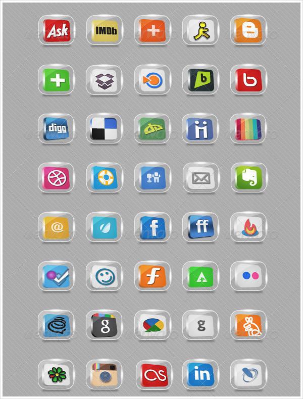 transparent-social-icon-set