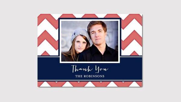 chevron thank you card