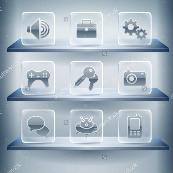 transparent-glass-internet-button-icons
