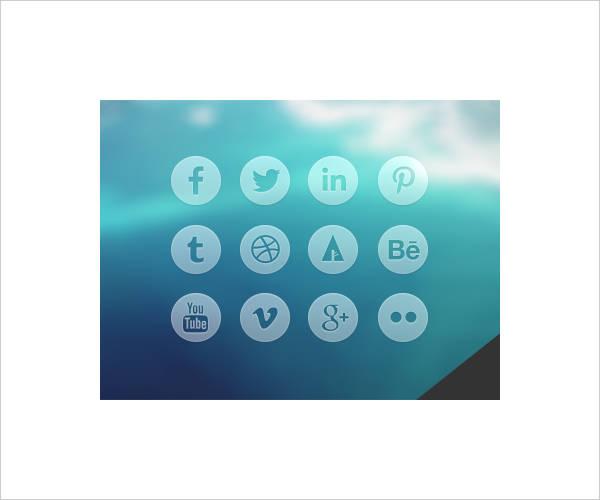 round-transparent-social-media-icons