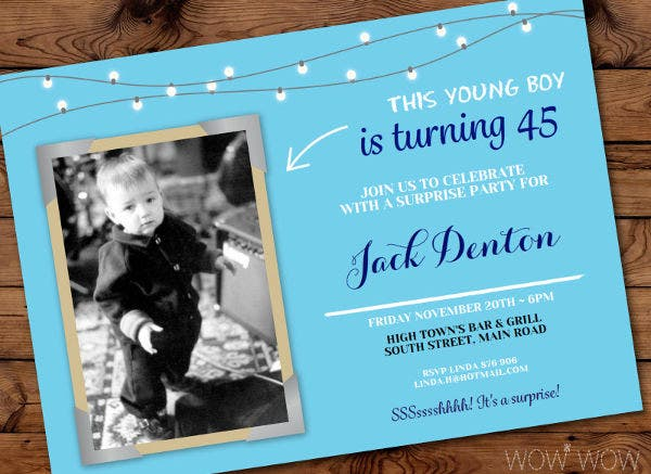 -Sample Baby Boy Birthday Invitation