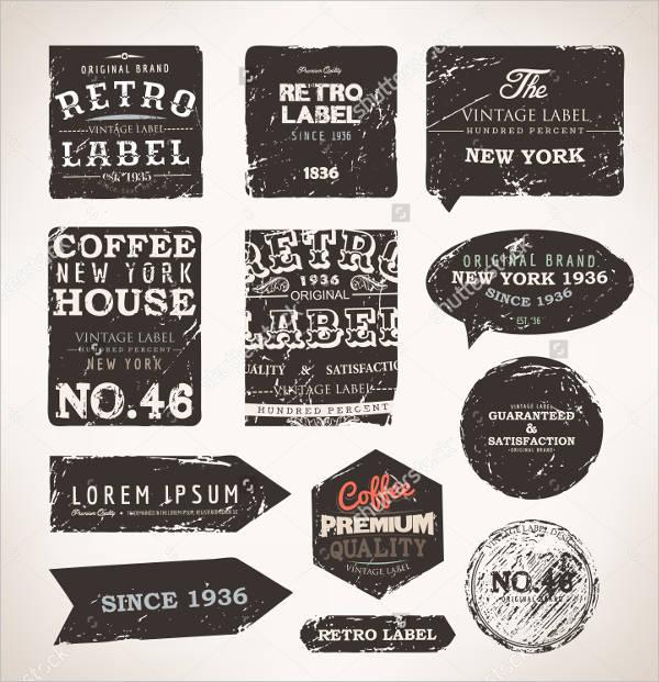 vintage grunge label