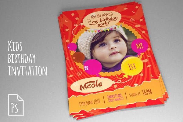 -Sample Baby Birthday Party Invitation