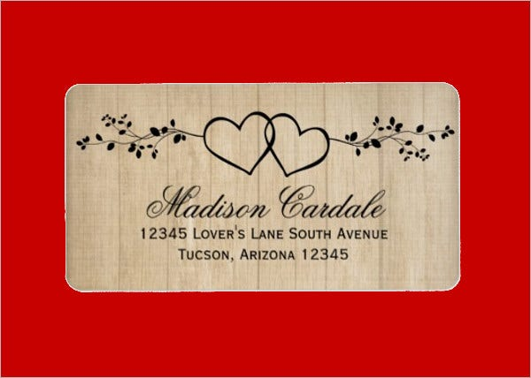 Rustic Wedding Address Label
