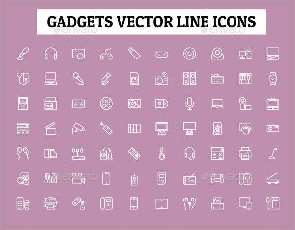 gadgets-vector-line-icons