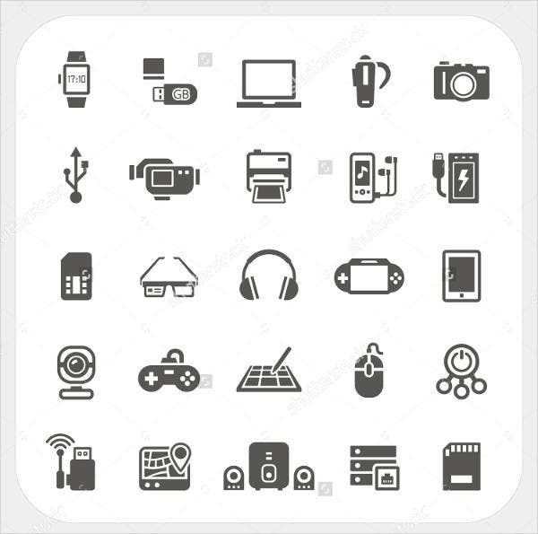 electronic-gadget-icons-set