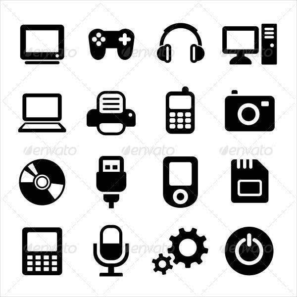 multimedia-gadget-icons-set
