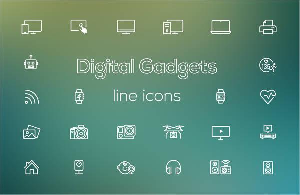 digital-gadgets-line-icons