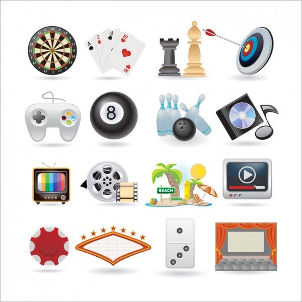 Vector Entertainment Icons