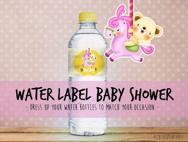 baby bottle sticker label