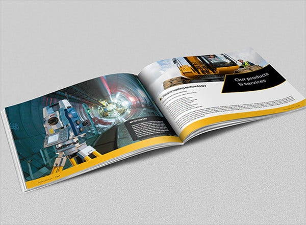 Construction Industry Magazine Template