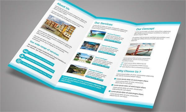 summer trifold brochure