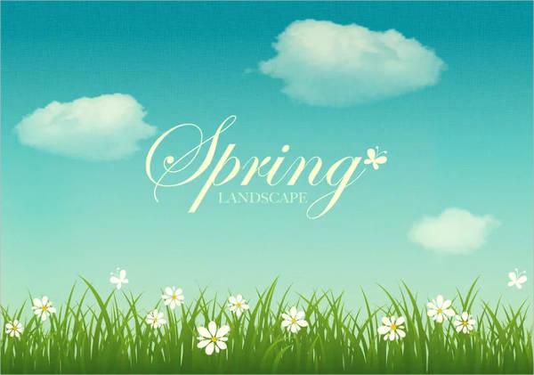 spring-landscape-vector