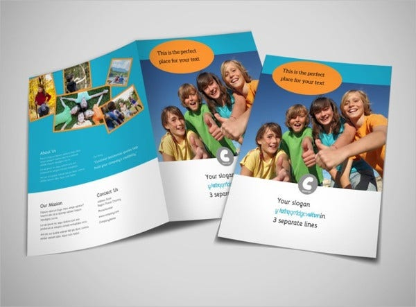 summer camp bifold brochure