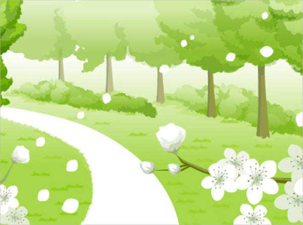 spring-vector-background