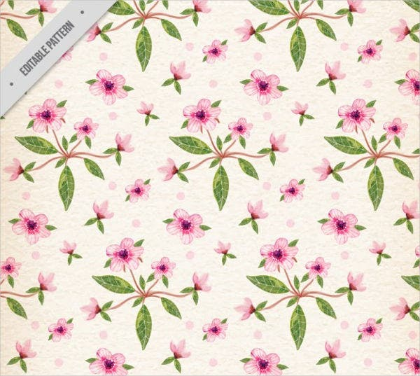 Watercolor Spring Pattern