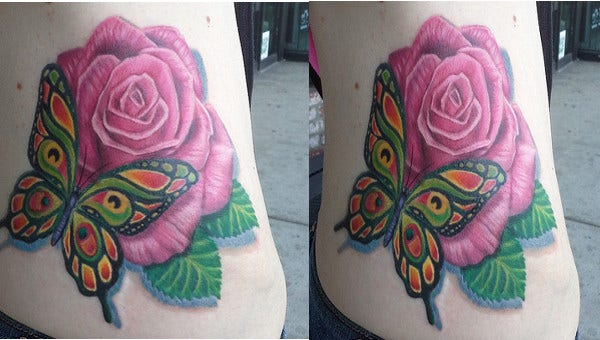 butterfly-and-rose-tattoo