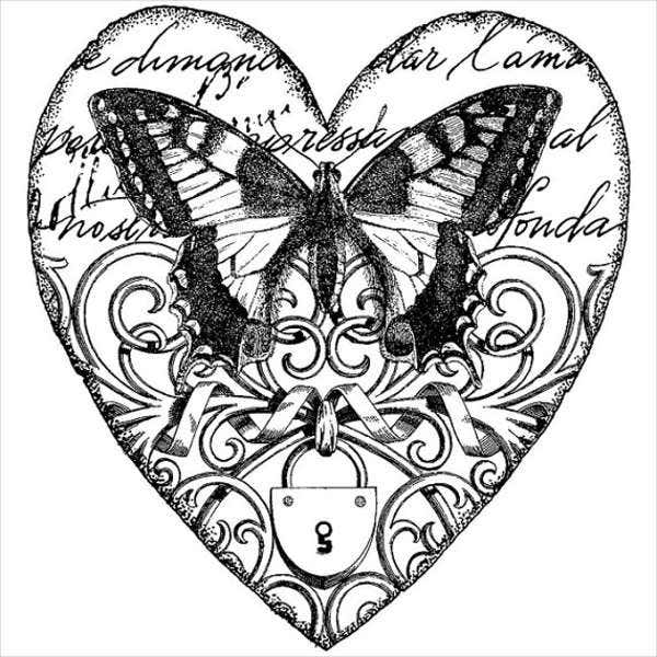 Vintage Butterfly Tattoo