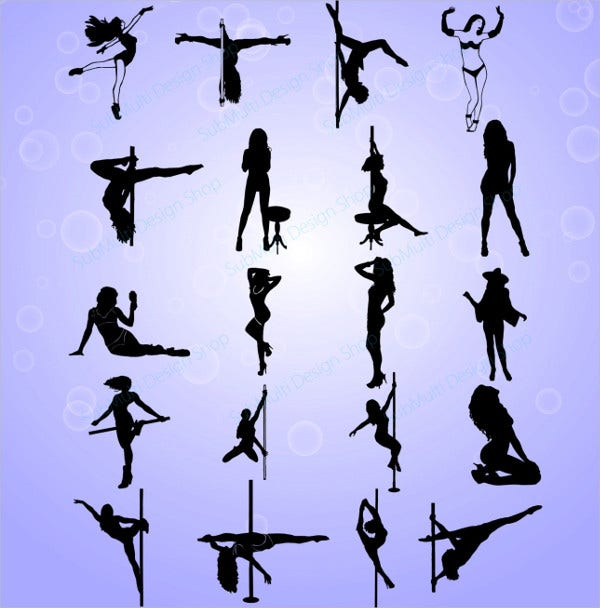 Dance Club Silhouette Vector