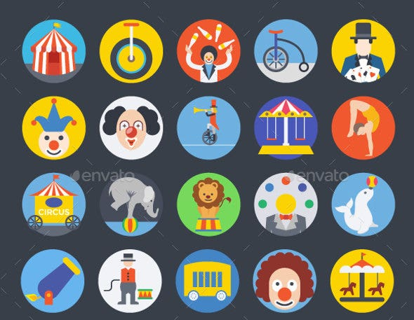 vector-circus-icons