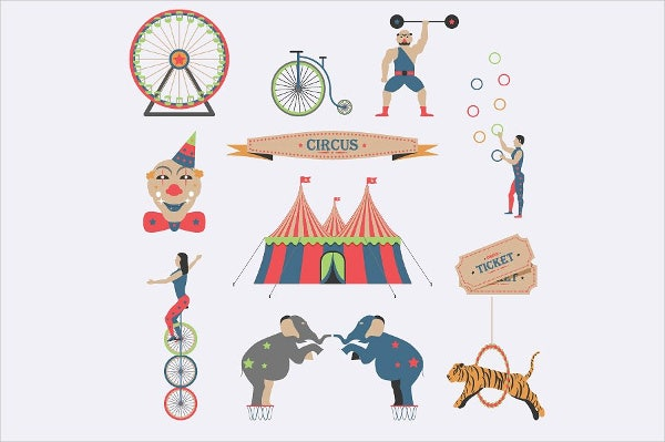 flat-circus-icons
