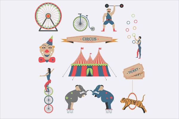flat-circus-icons