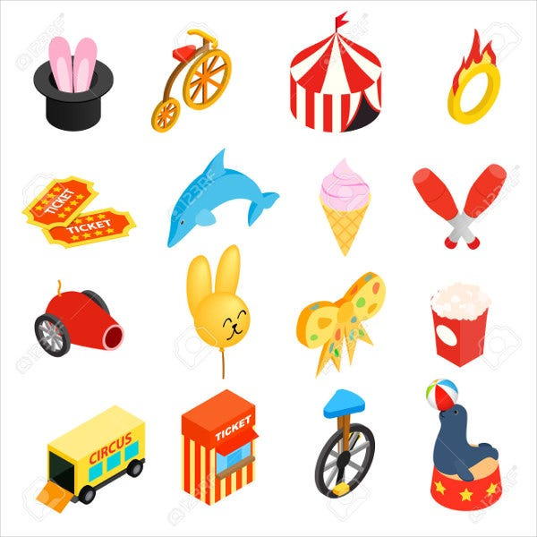 circus-isometric-icons