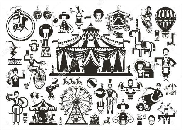 vintage-circus-icons