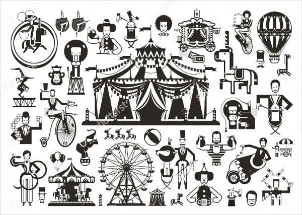 vintage-circus-icons