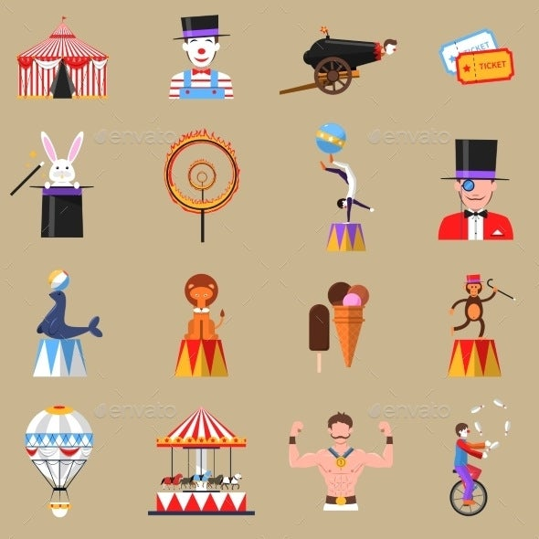 retro-circus-icons