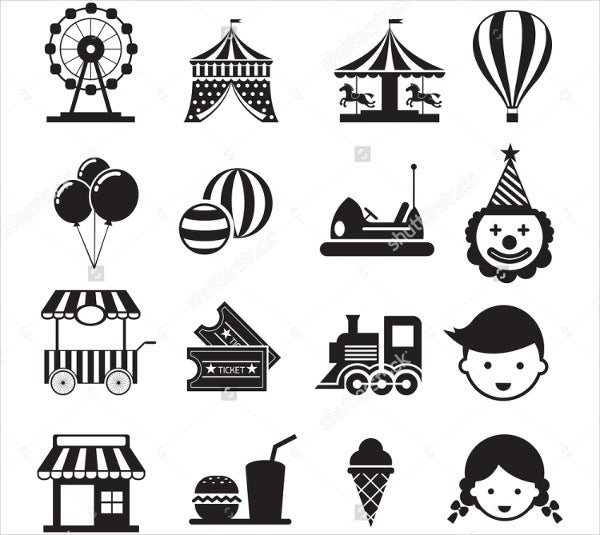 circus-carnival-icons-set